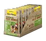 GimDog Superfood Meat Bones Hühnchen mit Apfel und Kohl | Mono-Protein Hundesnack mit hohem Fleischanteil | ohne Zuckerzusatz | 8 Beutel (8 x 70 g)