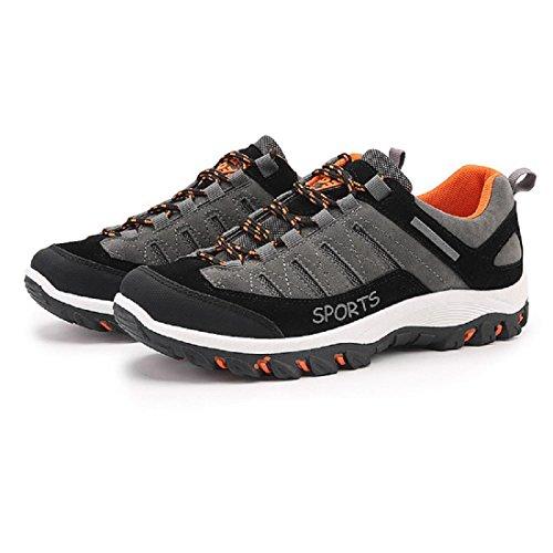 Uomo Moda Antiscivolo Scarpe sportive Tempo libero Scarpe da viaggio formatori Scarpe da trekking Taglia larga euro DIMENSIONE 39-47 gray