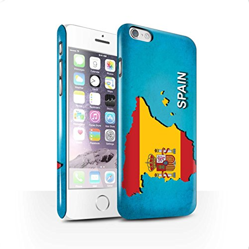 STUFF4 Glanz Snap-On Hülle / Case für Apple iPhone X/10 / Australien/Australian Muster / Flagge Land Kollektion Spanien/Spanisch