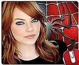Emma Stone dans The Amazing Spider Man personnalisée Unique Durable rectangle en caoutchouc antidérapant Tapis de tapis de souris de jeu