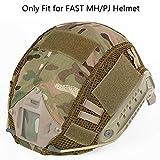 Aoutacc Tactical Multicam - Funda para Casco Militar para Casco Fast MH/PJ (sin Casco), CP