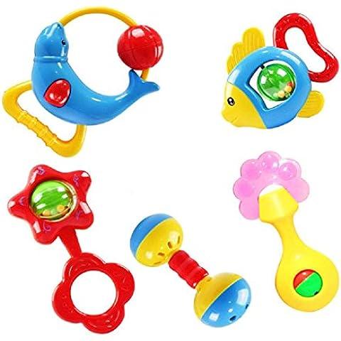 Fortan Animale handbells dello sviluppo del giocattolo Bells bambini crepitio del bambino Lovey