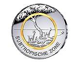5 Euro Gedenkmünze Deutschland 2018 Subtropische Zone