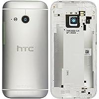 Original HTC Akkudeckel / Backcover für das HTC One mini 2 - silver / silber - mit NFC (Akkufachdeckel, Batterieabdeckung, Rückseite, Back-Cover) - 83H40012-02