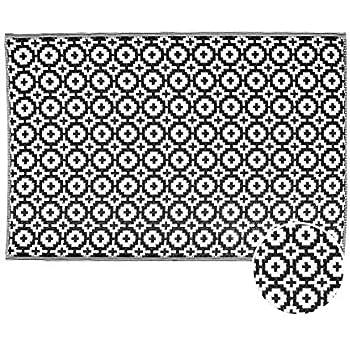 80 x 150 cm Balkon Terrasse Garten K/üche Wetterfest Wasserfest und UV-Best/ändig mit /ÖKO-TEX 100 Teppich W/ölkchen Outdoor-Teppiche f/ür Drau/ßen Gestreift Beige Braun