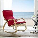 Nimm einen Stuhl Schaukelstuhl Nordic Balcony Lazy Schaukelstuhl Massivholz Lounge Sessel Lounge Chair Schaukelstuhl Schwangere Frauen Ältere Hocker (Farbe : #2)