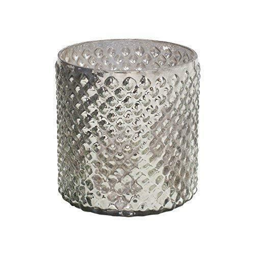 Serene Räume Living Antik Silber Hobnail Vase, mittel-Schöne Quecksilber Glas in einer Vase, 12,7cm im Durchmesser Ø & 12,7cm hoch