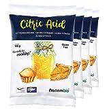 NortemBio Zitronensäure 2 Kg (4x500g). 100% Reines Pulver in Lebensmittelqualität. Ökologischer Input. E-Book Inklusiv.