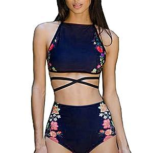 Italily - Bikini Donna Costume da Bagno Sexy Stampato a Pois, Imbottito Push-up, Imbottito da Bagno, Costumi da Bagno… 16 spesavip