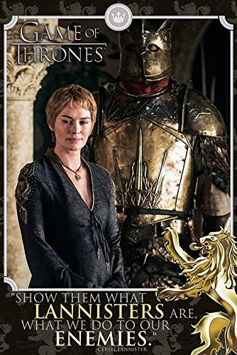 Spiel der Throne 'Cersei – Feinde' Maxi Poster,61 x 91.5 cm