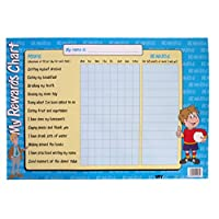 Large Girls & Boys Reward Chart, Size A2 With A Dry Wipe Berol Pen