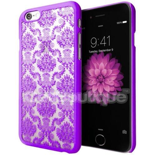 Carcasa CellBoutique portaequipaje para Apple iphone 5S 5C 6 con Protector de pantalla, plástico, Purple Case, iPhone 6