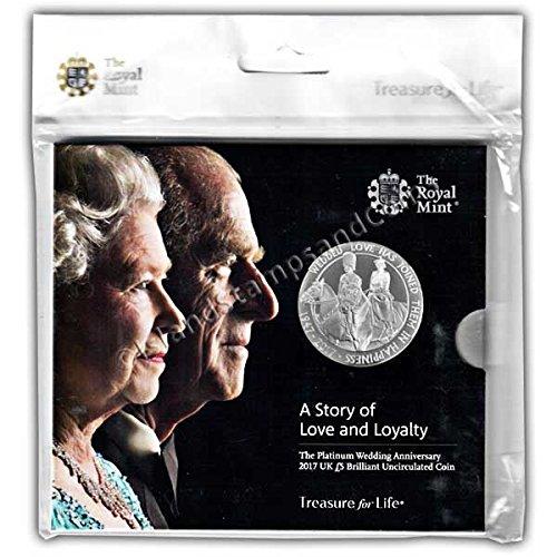 Platinum Wedding 2017 UK £5 Brilliant Uncirculated Coin -