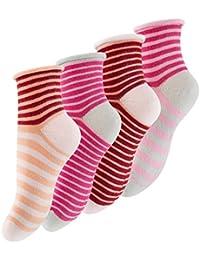 """Lot de 8 paires de chaussettes pour fille - original """"Vincent Creation®"""" - avec le bord du rouleau, avec des rayures colorées - fille"""