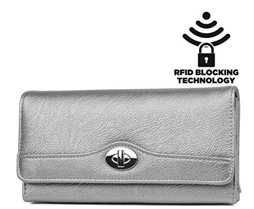 mundi-file-master-womens-rfid-blocking-wallet-clutch-organizer-with-coin-pocket-grey