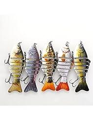 Forfar 1 pc Appâts de pêche leurre crankbait Hameçon Pêche à la mode Équipement d'extérieur en plastique Populaire à la mode Plastique Équipement Populaire à la mode