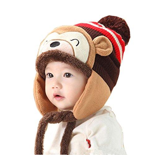 bonnet-bebe-koly-nouveau-mode-hiver-chaud-kid-baby-girl-boy-oreille-epais-knit-beanie-chapeau-cafe