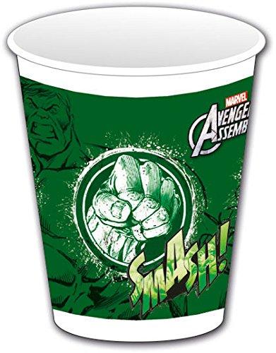 Avengers Assemble Kunststoff Tassen, 8Stück mit Hulk (Avengers-kunststoff-cups)