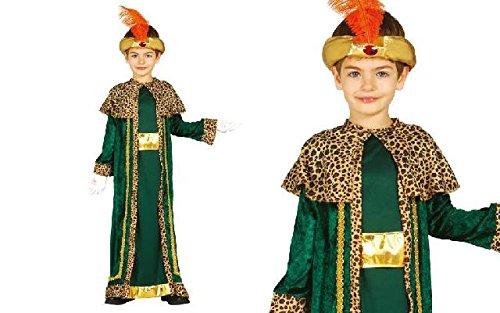 König Melchior Kostüm für Kinder Krippenspiel die heiligen drei Könige Kirche Weihnachten Gr. 98-146, (Melchior Kind Kostüme)