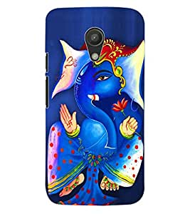 ColourCraft Lord Ganesha Design Back Case Cover for MOTOROLA MOTO G2
