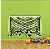 58X90cm Junge Wandtattoo Fußball Fußball Tor Net Wandaufkleber Fußball Wandtattoo Fußball Sport Decor Kinder Jungen Kindergarten Kunst