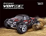 Enlarge toy image: Remote Control Car, Crenova1/18 Scale 4WD RC Car Electric Racing Car Off Road RC Monster Truck RTR Desert Buggy Vehicle 2.4Ghz 30MPH High Speed with 2 Rechargeable Batteries