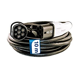 10m Ladekabel 1 Phasig 230V 7.2kW 32A Typ 2 zu Typ 2 für Wallbox Ladestation Wallbox24