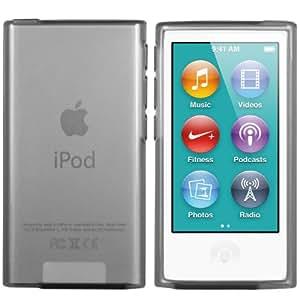 mumbi TPU Silikon Hülle iPod Nano 7G Coque pour iPod Nano (7e génération) transparent noir (import Allemagne)