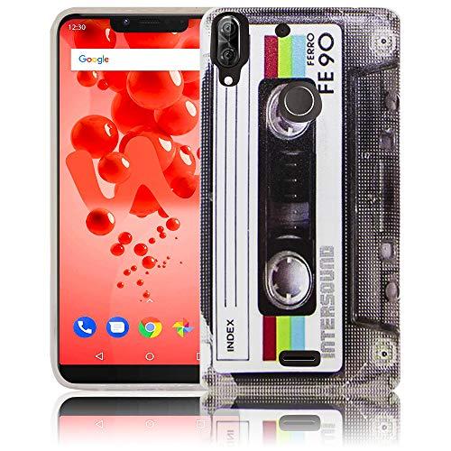 thematys Passend für Wiko View 2 Plus Kassette RetroHandy-Hülle Silikon - staubdicht stoßfest & leicht - Smartphone-Case