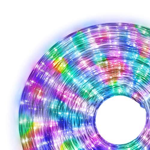 Nipach GmbH 10m 240 LED Lichterschlauch Lichtschlauch bunt - Innen- und Außenbereich - energiesparende Leucht-Dekoration für Garten Fest Weihnachten Hochzeit Gesamtlänge ca. 11,50 m