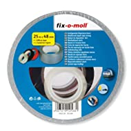 fix-o-moll Powerband 25 m x 48 mm 2 Isolierbänder plus 1 Klebefilm selbstklebend silber, 3563110