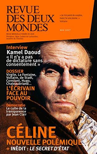 Revue des Deux Mondes mai 2017 par Frédéric Verger
