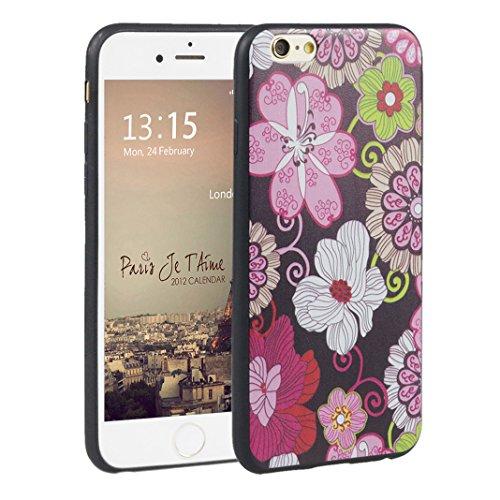 iphone 6 6s 4.7 pollici Cover suave, Asnlove Custodia TPU Gel Silicone Protettivo Skin Custodia Protettiva Shell Case Cover per Apple iphone 6 6s 4.7 pollici Caso-Fiores peonias