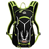 Mochila de Senderismo de Tela Resistente al Agua para Deportes al Aire Libre, Color Verde, tamaño Size