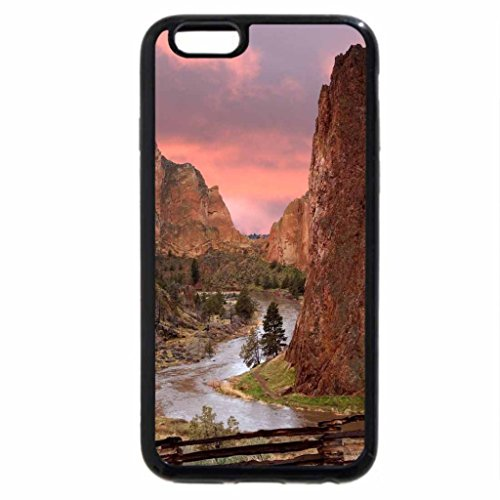 iPhone 6S / iPhone 6 Case (Black) River Thru the Mountains