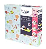 Tineo 603611 Spiel- und Schlafmatratze, 3 in 1, orange/grün