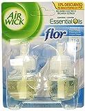 Air Wick Ambientador Eléctrico Recambio Duplo Flor, 2 x 19 ml - Total: 38 ml