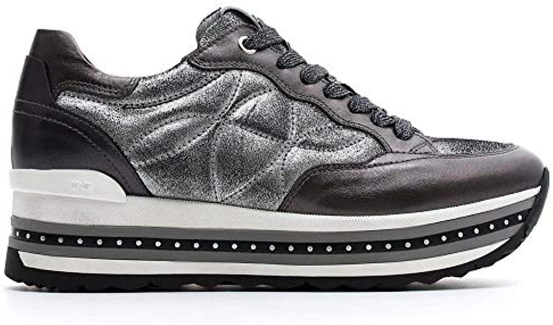 e71986602a Nero Giardini scarpe da ginnastica Donna Pelle Pelle Pelle Grigia ...