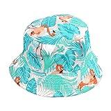 Qinlee Flamingo Fischerhüte Sonnenhut Strandhut Lässig Hüte Visier Kappe Schutz Kopf Frühling-Sommer Hüte Männlich Mädchen für Outdoor