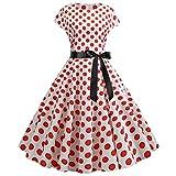 style_dress Femmes Vintage sans Manches en Dentelle Splice Imprimer Robe De SoiréE...