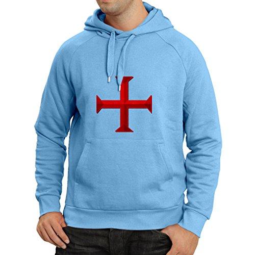 Felpa con cappuccio I Cavalieri Templari - Croce Templare Azzulo Multicolore