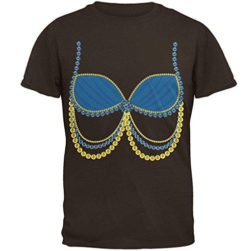 Halloween arabische Bauchtänzerin blau Kostüm Herren-T-Shirt braun (Kostüme Belly Dancer Arabischen Halloween)