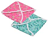 #7: Yellow Weaves™ Cotton Roti Cover/ Chapati Cover/ Traditional Roti Rumals (Assorted Color & Design) - Set of 2