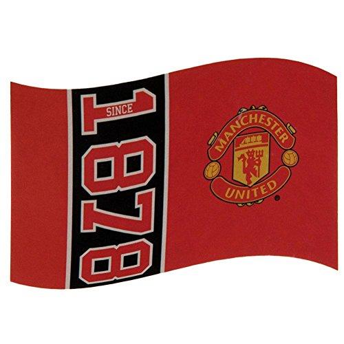 Manchester Man Utd United FC Fußball seit 1878 Flagge rot Fan Match Banner
