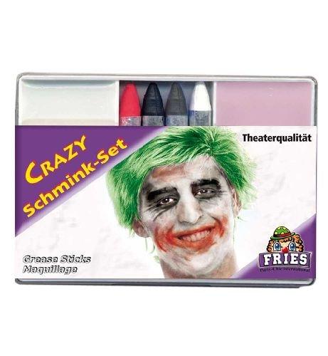 Schminkset Crazy 6tlg. Crazy set Foundation + 4 Schminkstifte + Abschminke Karnevals - Schminke
