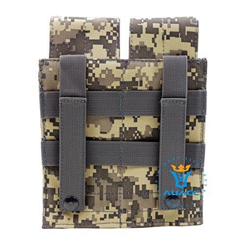 Multifunzione sopravvivenza Gear Pouch Tattico Molle Pouch Duplex Magazine Pouch, Velcro e fibbie a sgancio rapido militare tattico borsa per attrezzi, OD ACU