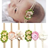 CHIC-CHIC 6PCS Newborn Baby Girls Flower Headbands Handmade - Best Reviews Guide