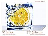 Graz Design 761691_10x10_50 Fliesenaufkleber Zitronen - Wasser für Kacheln | Wand-Deko für Bad/Küchen-Fliesen (Fliesenmaß: 10x10cm (BxH)//Bild: 75x50cm (BxH))