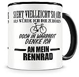 Samunshi® Ich denke an mein Rennrad Tasse Kaffeetasse Teetasse Kaffeepott Kaffeebecher Becher