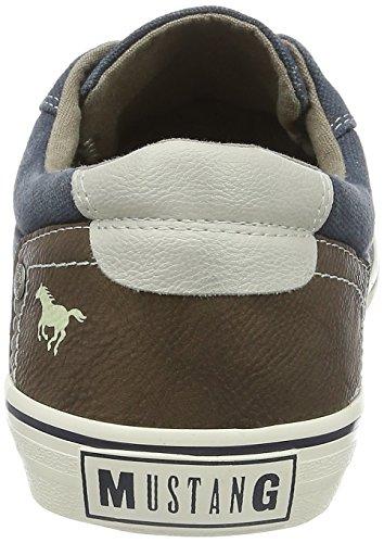 Mustang 4101-301-800, Scarpe da Ginnastica Basse Uomo Blu (800 Dunkelblau)